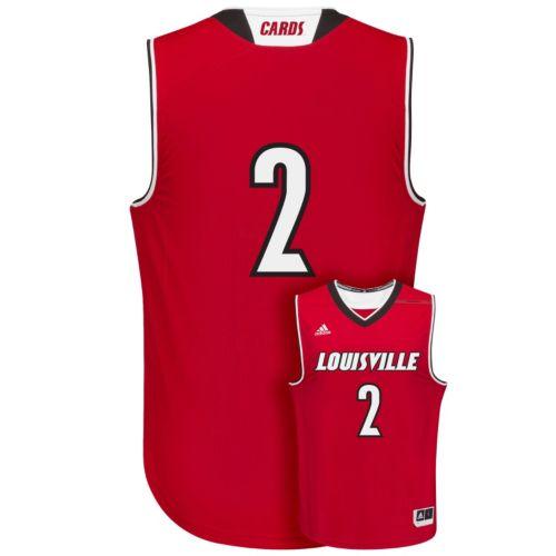 Men's adidas Louisville Cardinals Replica Basketball Jersey