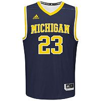 Men's adidas Michigan Wolverines Replica Basketball Jersey