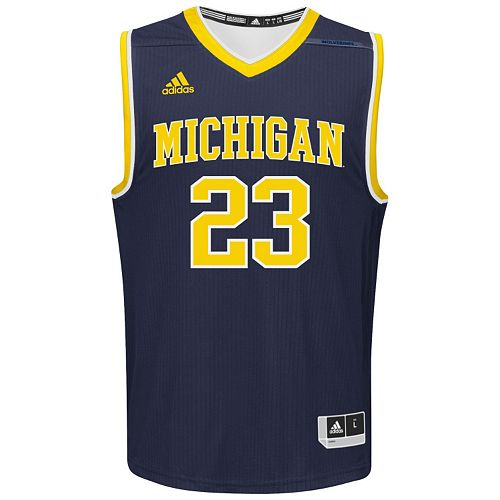Men's adidas Michigan Wolverines Replica Basketball Jersey