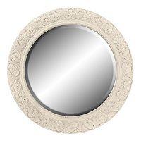 Belle Maison Floral Round Wall Mirror