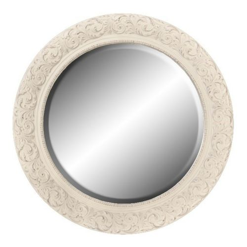Belle Maison Floral Round Wall Mirror