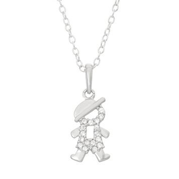 Junior Jewels Kids' Sterling Silver Cubic Zirconia Boy Pendant