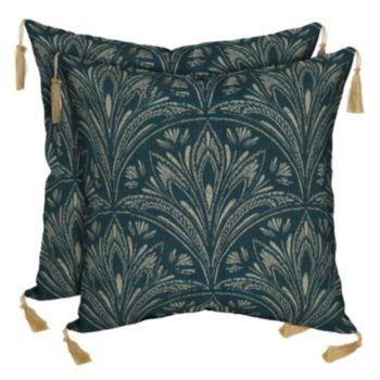 Bombay® Outdoors Royal Zanzibar Medallion Tassels Reversible Throw Pillow 2-piece Set