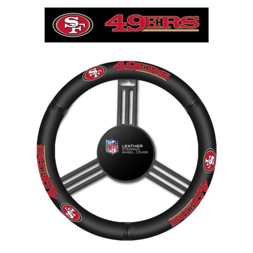 San Francisco 49ers Leather Steering Wheel Cover