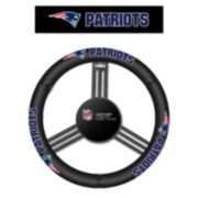 New EnglandPatriots Leather Steering Wheel Cover