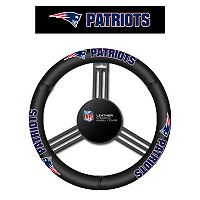 New England Patriots Leather Steering Wheel Cover