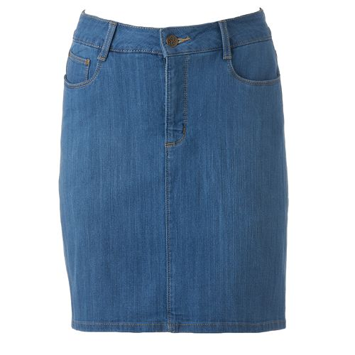 Women's Croft & Barrow® Classic Fit Jean Skort