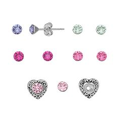 Charming Inspirations Interchangeable Heart Stud Earring Set
