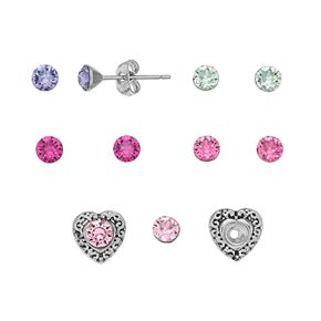 Charming Inspirations Interchangeable Heart Stud Earring Set