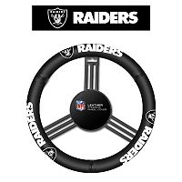 Oakland Raiders Leather Steering Wheel Cover