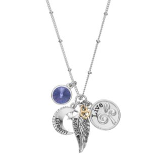 """Charming Inspirations """"Dream Believe Live"""" Charm Necklace"""