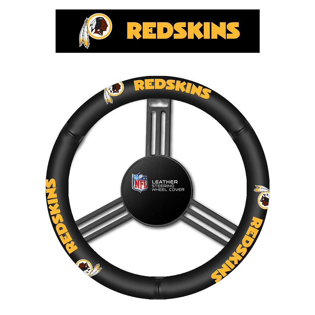 Washington Redskins Leather Steering Wheel Cover