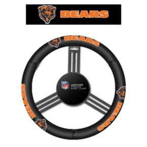 Chicago Bears Leather Steering Wheel Cover