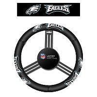 Philadelphia Eagles Leather Steering Wheel Cover