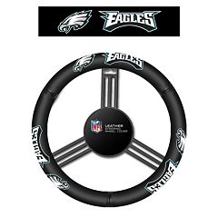 Philadelphia Eagles Leather Steering Wheel Cover