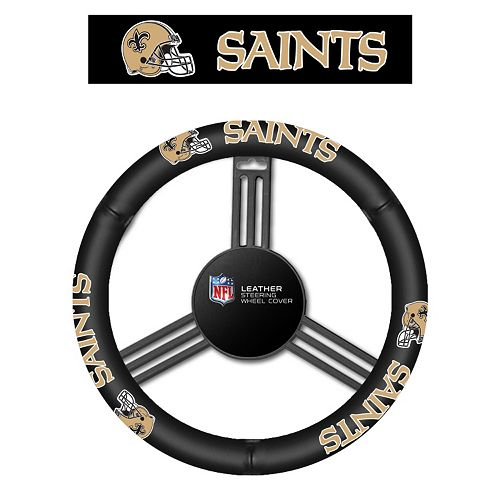 New Orleans Saints Leather Steering Wheel Cover