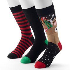 Men's Holiday 3-pack Crew Socks