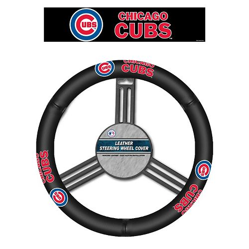 Chicago Cubs Leather Steering Wheel Cover