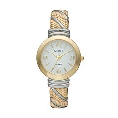 Studio Time Women's Two Tone Cuff Watch