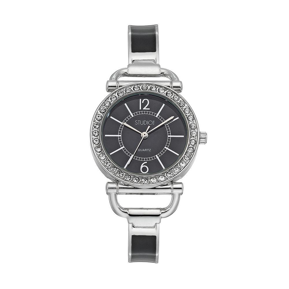 Studio Time Women's Crystal Cuff Watch