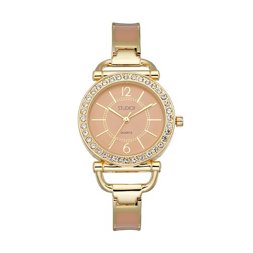 Studio Time Women's Crystal Cuff Watch