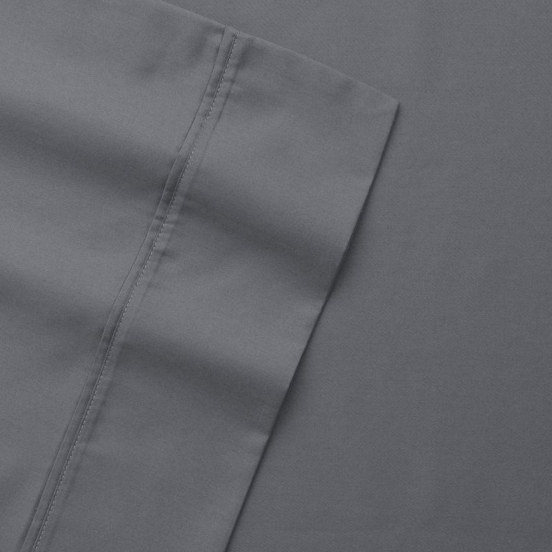 Wrinkle Resistant 300 Thread Count Solid Sheet Set, Grey Full