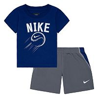 Baby Boy Nike Baseball Tee & Shorts Set