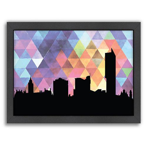 Americanflat PaperFinch Manchester Skyline Framed Wall Art