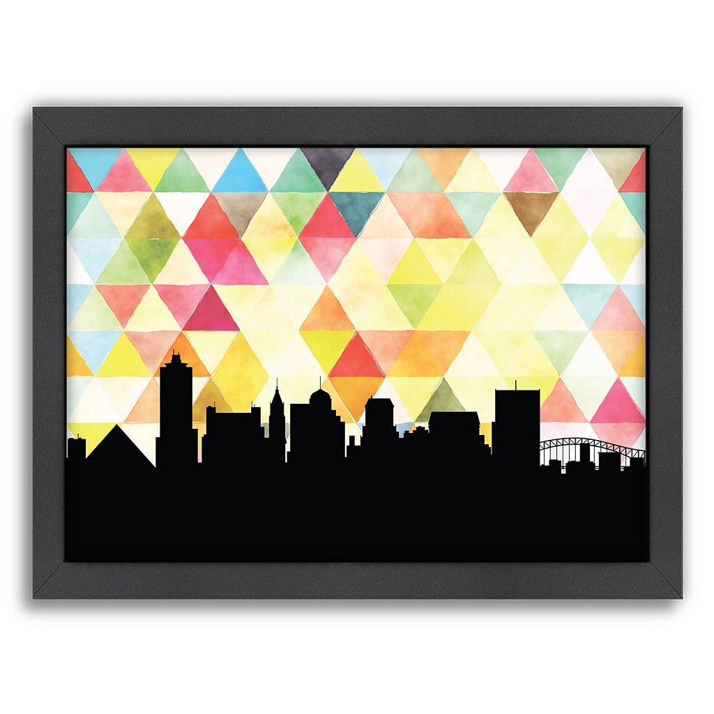 Americanflat PaperFinch Memphis Skyline Framed Wall Art