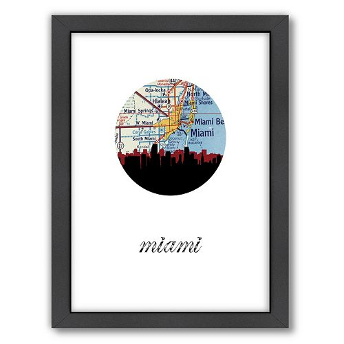 Americanflat PaperFinch Miami Framed Wall Art
