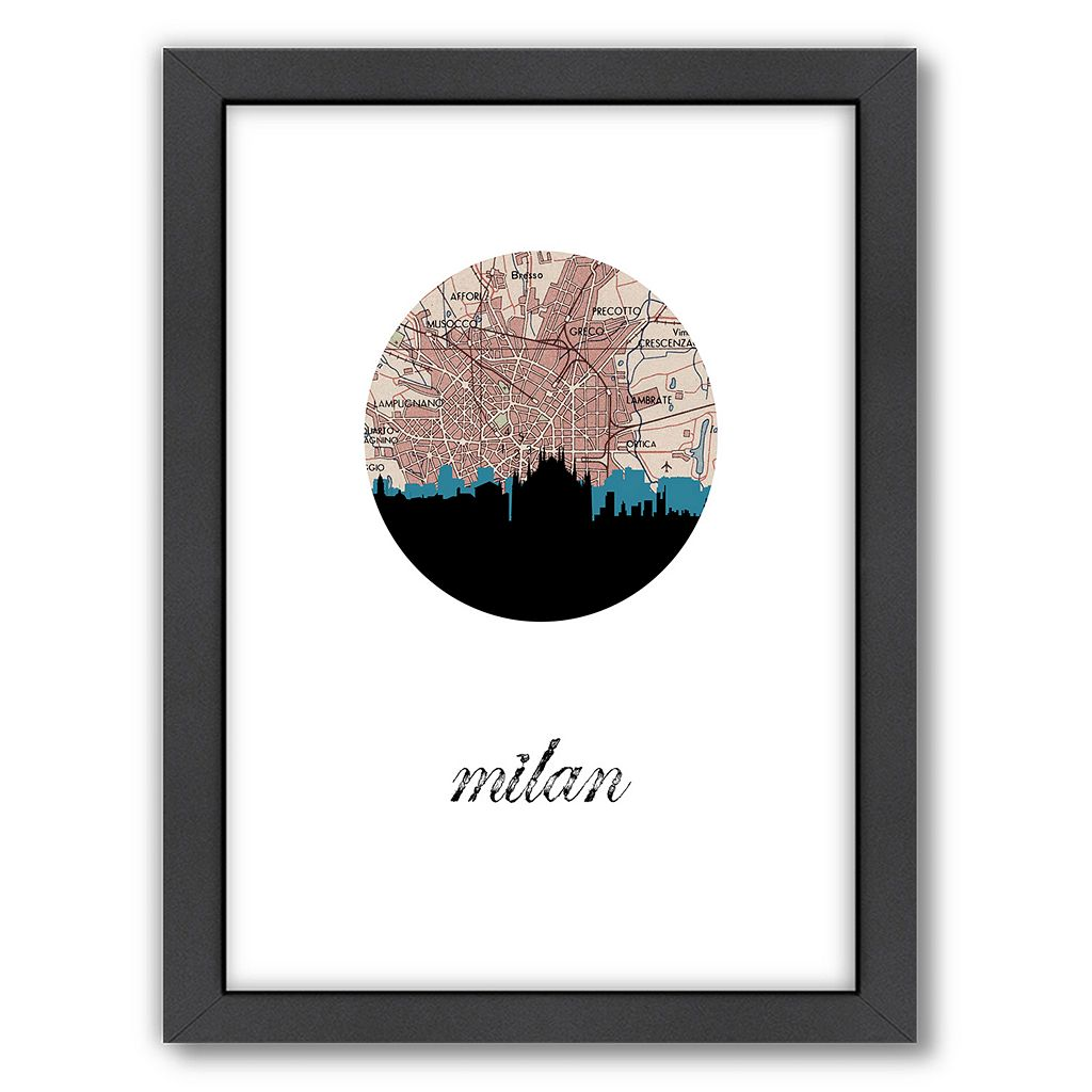 Americanflat PaperFinch Milan Framed Wall Art