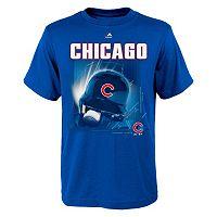 Boys 8-20 Majestic Chicago Cubs Kinetic Helmet Tee