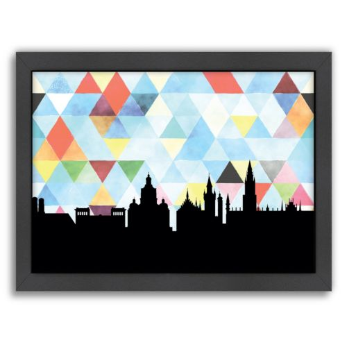 Americanflat PaperFinch Munich Skyline Framed Wall Art