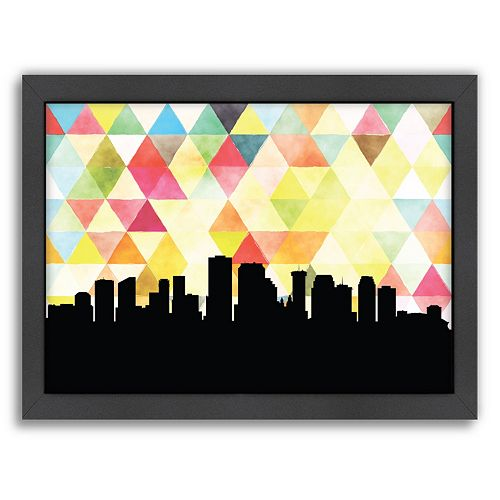 Americanflat PaperFinch New Orleans Skyline Framed Wall Art