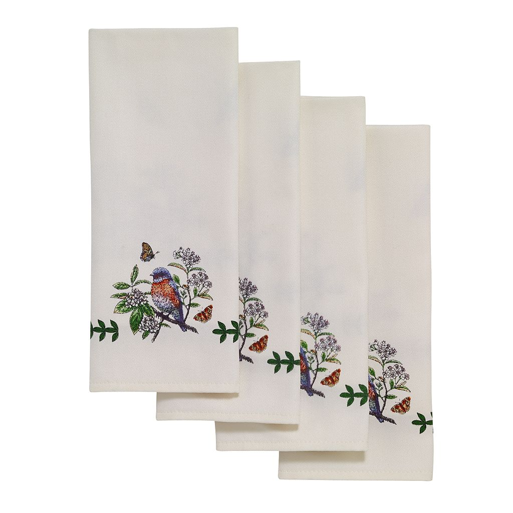 Portmeirion Botanic Garden Bird 4-pc. Napkin Set