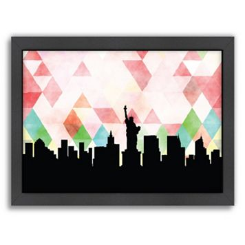 Americanflat PaperFinch New York City Skyline Framed Wall Art
