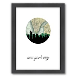 Americanflat PaperFinch New York City Framed Wall Art