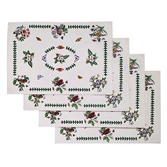 Portmeirion Botanic Garden Bird 4 pc Placemat Set