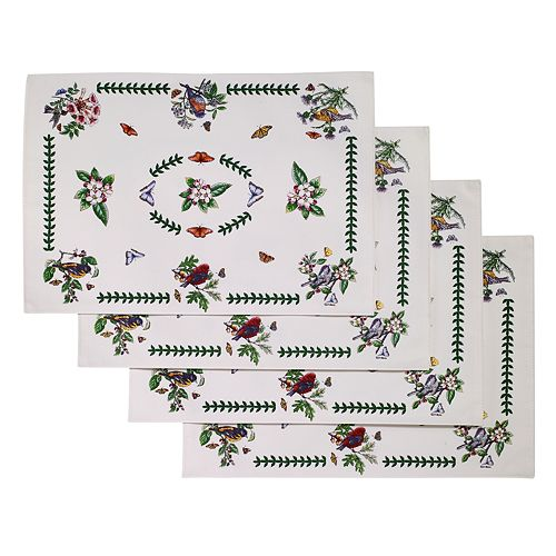 Portmeirion Botanic Garden Bird 4-pc. Placemat Set