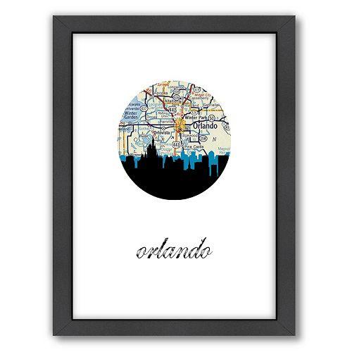 Americanflat PaperFinch Orlando Framed Wall Art