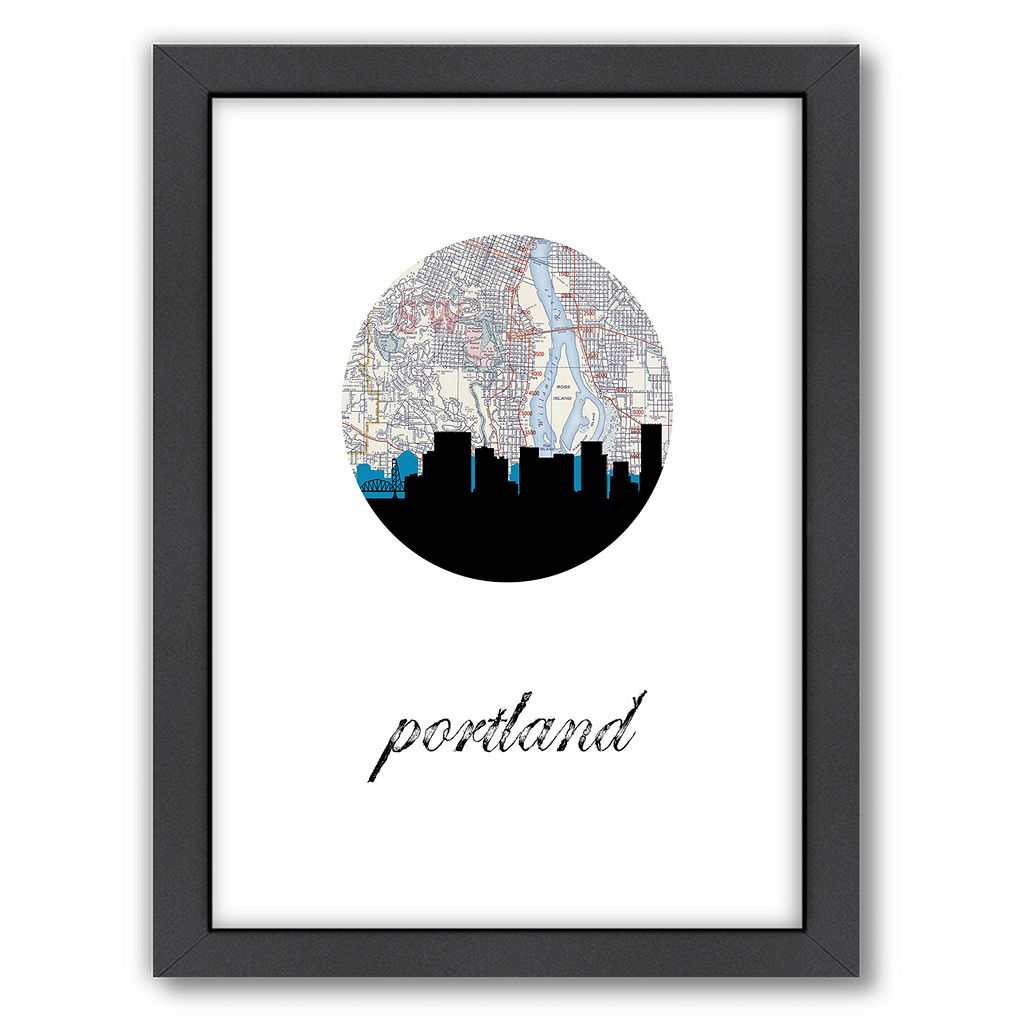 Americanflat PaperFinch Portland Framed Wall Art