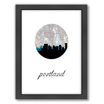 Americanflat PaperFinch Portland Framed Wall Art
