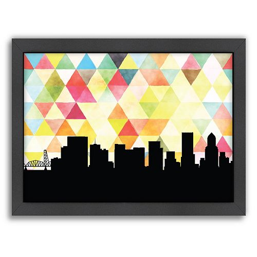 Americanflat PaperFinch Portland Skyline Framed Wall Art