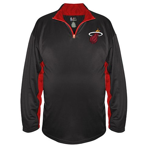 Big & Tall Majestic Miami Heat Pullover