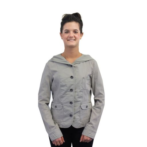 Women's Coffee Shop Mixed-Media Jacket