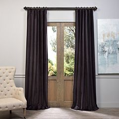 EFF 1-Panel Vintage Cotton Velvet Window Curtain
