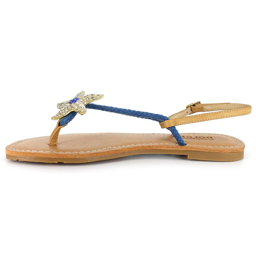 Dolce by Mojo Moxy Splash Women's Starfish Thong Sandals