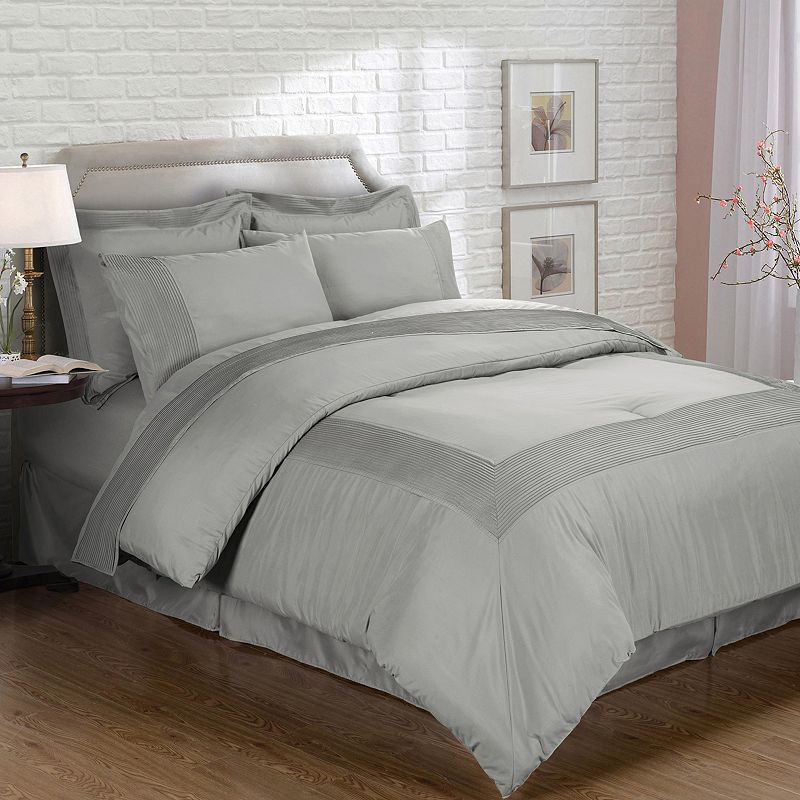 EverRouge Mason Manor 8-piece 1000 Thread Count Bed Set, Grey
