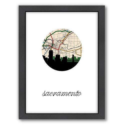Americanflat PaperFinch Sacramento Framed Wall Art