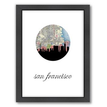 Americanflat PaperFinch San Francisco Framed Wall Art